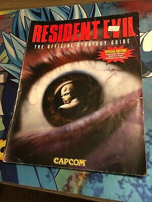 Resident Evil 1 Official Strategy Guide Dimension Meston 1996 PlayStation Saturn