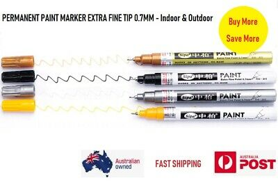 Premium Quality Permanent Paint Marker Extra Fine Tip Quick Dry Free Postage