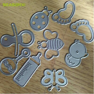 9Pcs/ Set Cute Baby Suit Metal Cutting Dies DIY Scrapbooking Decorative