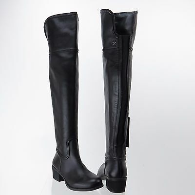 5a6db508c88 Women s Vince Camuto Baldwin 2 Black Leather Tall Knee Wide Calf Boot Sz 6  M NEW