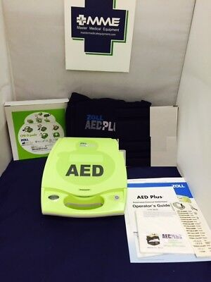 ZOLL AED PLUS Public Use AED, Factory Recert, New Adult Pads and Batteries