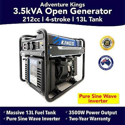 Kings 3.5kVA Open Generator Inverter Pure Sine Wave Genset Portable Camping