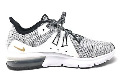 huge selection of 73be8 58185 Nike Air Max Sequent 3 GS Youth Size 5.5Y Training Shoes White Black 922884