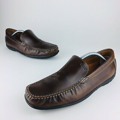 a26abcd671c3 Ecco Driving Loafers 44 Mens 10 - 10.5 Slip On Brown Leather Moccasins  Casual