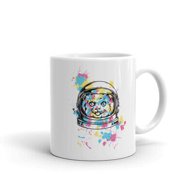 Astronaut Cat Coffee Mug 11 - 15 oz cup - Crazy Cat Lady Gift Tea Lovers Cup