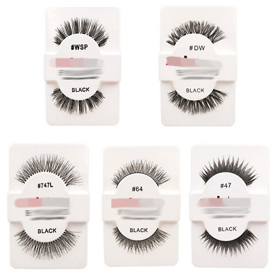 3D Handmade Soft Long Natural Thick Makeup Eye Lashes False Eyelashes Cross AS
