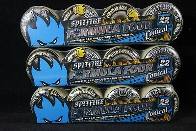 Spitfire Skateboard Wheels Formula Four Conical Classic Yellow 99DU All Sizes