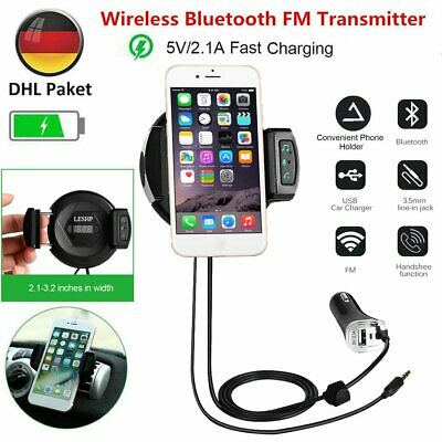 KFZ Bluetooth FM Transmitter Auto Radio MP3 Musik Player USB Adapter Car Kit