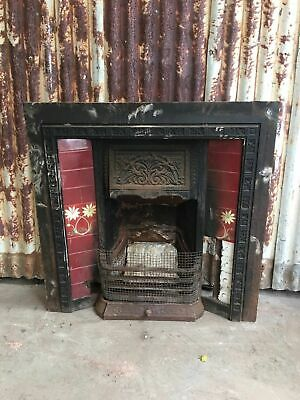 Cast Iron Fireplace With Tile Decorations 965w X 960h