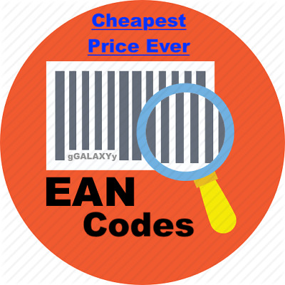 EAN Code UPC Codes 13 Digit EAN Barcode with JPEG Image 50 - 100000 Codes