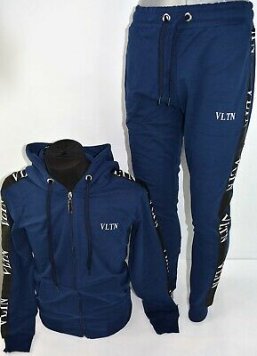 Bnwt Valentino Blue Tracksuit Sweater+ Pants Sports  Wear All Sizes
