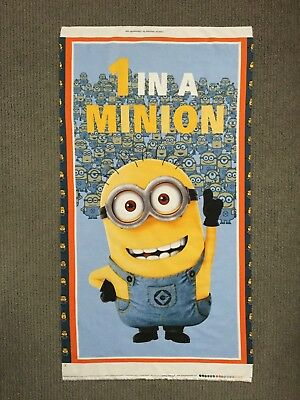 Minions Fabric Panel Despicable Me Cartoon Quilt Panel Boys Quilting Cotton Kids