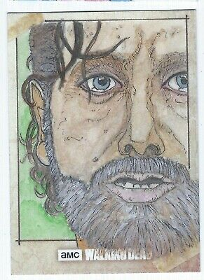 2018 Walking Dead Rick Grimes Topps Official Sketch Card Clinton Yeager