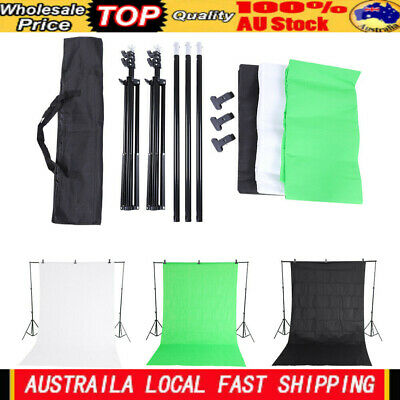 New 2*2m Photography Chromakey Backdrop Studio Stand Background Clamp Kit