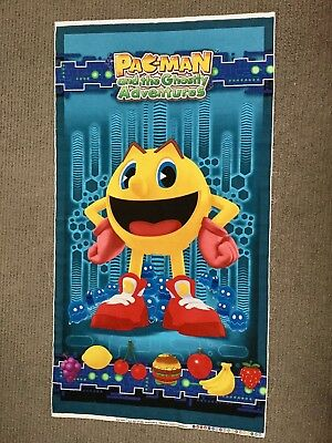 Pacman Fabric Panel Novelty Fabric Retro Vintage Video Game Boys Quilting Cotton
