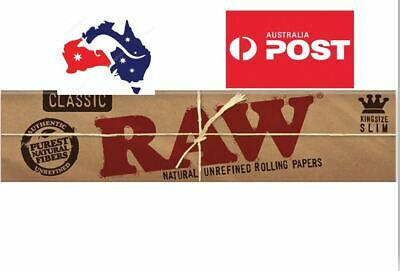 RAW Classic King Size Rolling Papers, Slim+Free gift