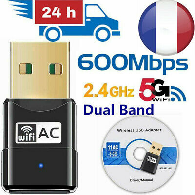 Adaptateur USB Wifi 9600Mbps Clé Wifi Dongle Sans Fil 2.4GHz 5GHz PC Network LAN