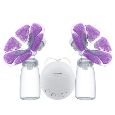 RealBubee Powerful Double/Single Intelligent USB Electric Breast Pump