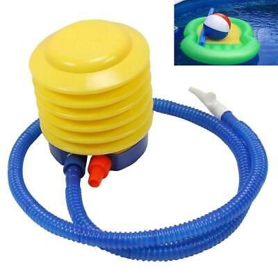 1X Inflatable Toy Balloon Ball Foot Air Pump Inflator Yellow Blue S4H8