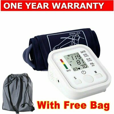 Digital Blood Pressure Monitor Automatic LCD Heart Meter Upper Arm BP Machine AU