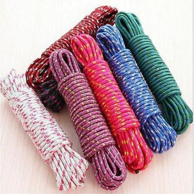 Laundry Rope Hanging Nylon Slip Windproof Outdoor Drying Clothes Line 10Meter