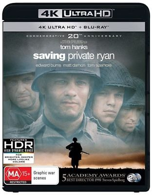 Saving Private Ryan 4K Ultra HD : NEW UHD Blu-Ray