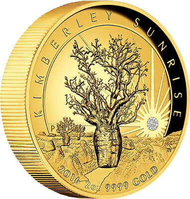 2016 Kimberley Sunrise 2oz Gold Proof High Relief Coin
