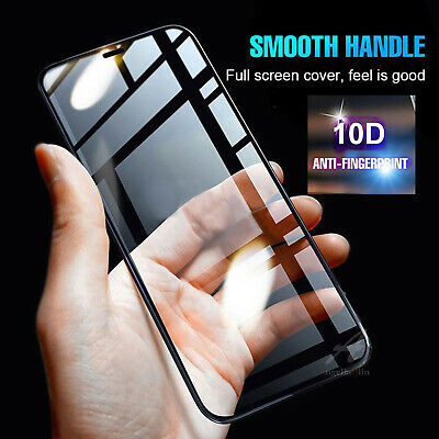 10D Genuine Tempered Glass Screen Protector Curved Edge Film For iPhone XS MAX X