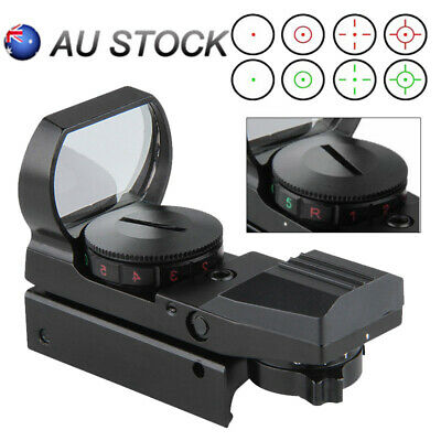 20mm Holographic Rail Red Green Dot Sight Reflex Scope 4 Reticle Rifle Mount AU