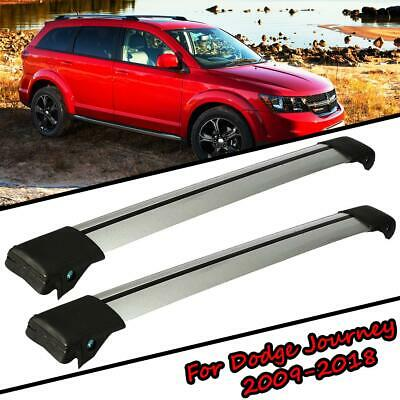 Aluminum OE Style Roof Rack Baggage Cross Bar Rail for 2009-2017 Dodge Journey