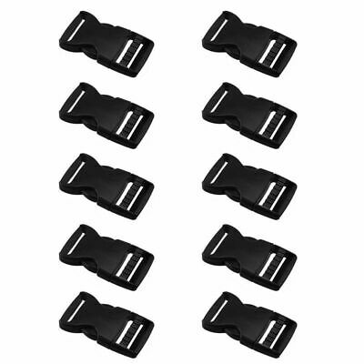 10 X Plastic Buckle for Webbing Strap Bag Fastener Side Release Clasp Cli YKI