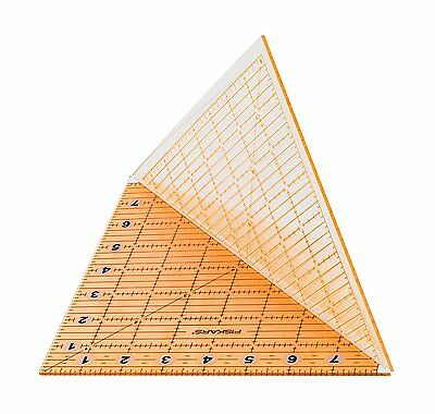 FISKARS RULER ACRYLIC FOLDING TEMPLATE- SQUARE / TRIANGLE 8 x 8 INCH -PATCHWORK