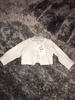 Junior J Cream Baby Cardigan 0-3 Months