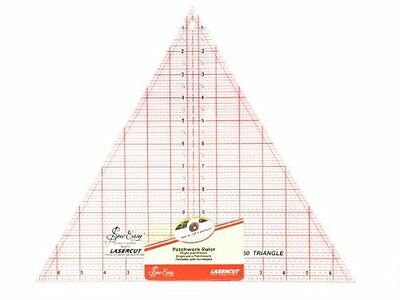 "SEW EASY 60 DEGREE TRIANGLE PATCHWORK RULER TEMPLATE - 12"" x 13.7/8"" -XMAS SKIRT"