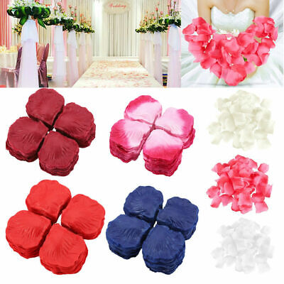 1000Pcs Wedding Scatter Confetti Party Silk Rose Flower Petals Exquisite Decor