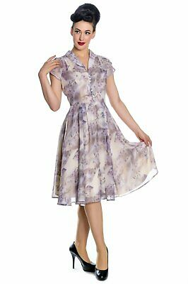 Skye Chiffon Dress hell bunny vintage 1950s 1940s prom occasion pinup land girl