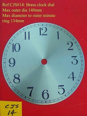 27/2 :cjsd#14  Replacement  brass clock dial 140mm od