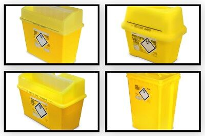 Large Needle Disposable Sharps Bin Container Box Medical 7L 24 30 60 Litre