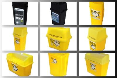 SHARPSAFE Clinical Waste Container Needle Waste Sharps Bin Disposal Box 1 2 or 5