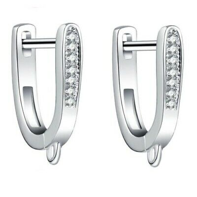 New Design High Quality Sterling Silver  Leverback Earring Hook  with Shiny CZ