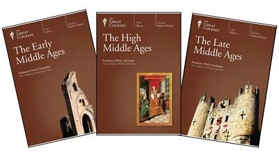 GREAT COURSES - Early/High/Late Middle Ages - complete set of DVDs