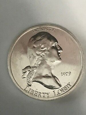 1979 Liberty Lobby One Silver Eagle One Troy Ounce  999 Fine Silver Round