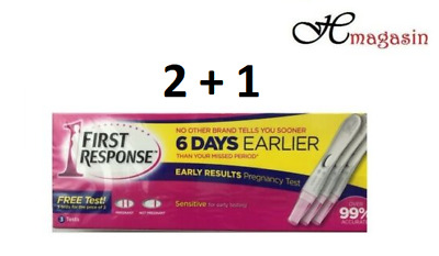 First Response Pregnancy Test 6 Days Early Ultra Sensitive (2 Tests + 1 extra)