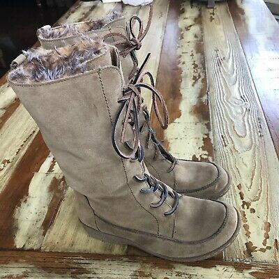 442d1ca2fd5e SAM EDELMAN SIZE 8.5 Mateo Fur Lined tan Suede Boots warm winter ...