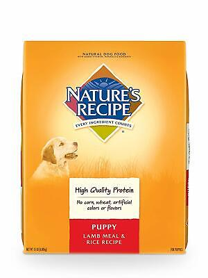 Nature'S Recipe Dry Puppy Food, Lamb Meal & Rice Repiece, 15 lb