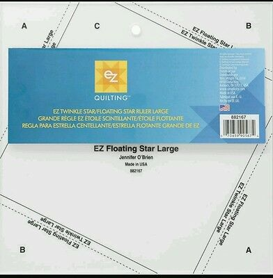"Large Floating Star / Large Twinkle Star Template - Ez Simplicity- 8.5 "" Square"