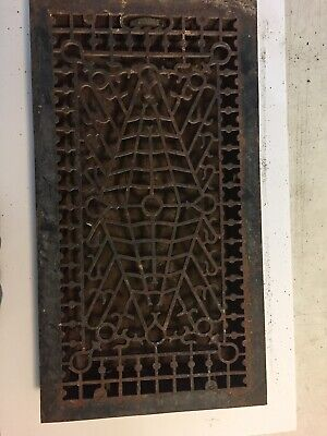Vintage Ornate Cast-Iron Wall/Floor Heat/Register  Grate Milwaukee 12 X 24