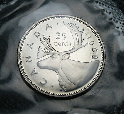 RCM - 1968 - 25-cents - Caribou - Proof Like - Sealed in original cellophane