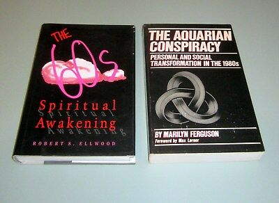 2 Books 1960s SPIRITUAL AWAKENING PSYCHEDELIC TIMOTHY LEARY Aquarian Conspiracy