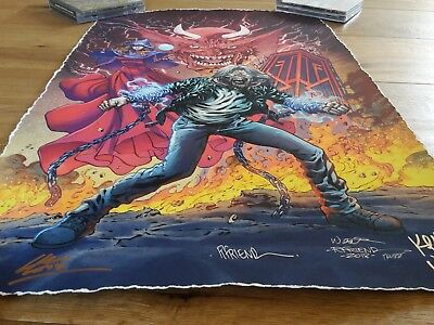SIGNED Iron Maiden Legacy of the Beast II 2018 SDCC Print | Comic limited 100pcs